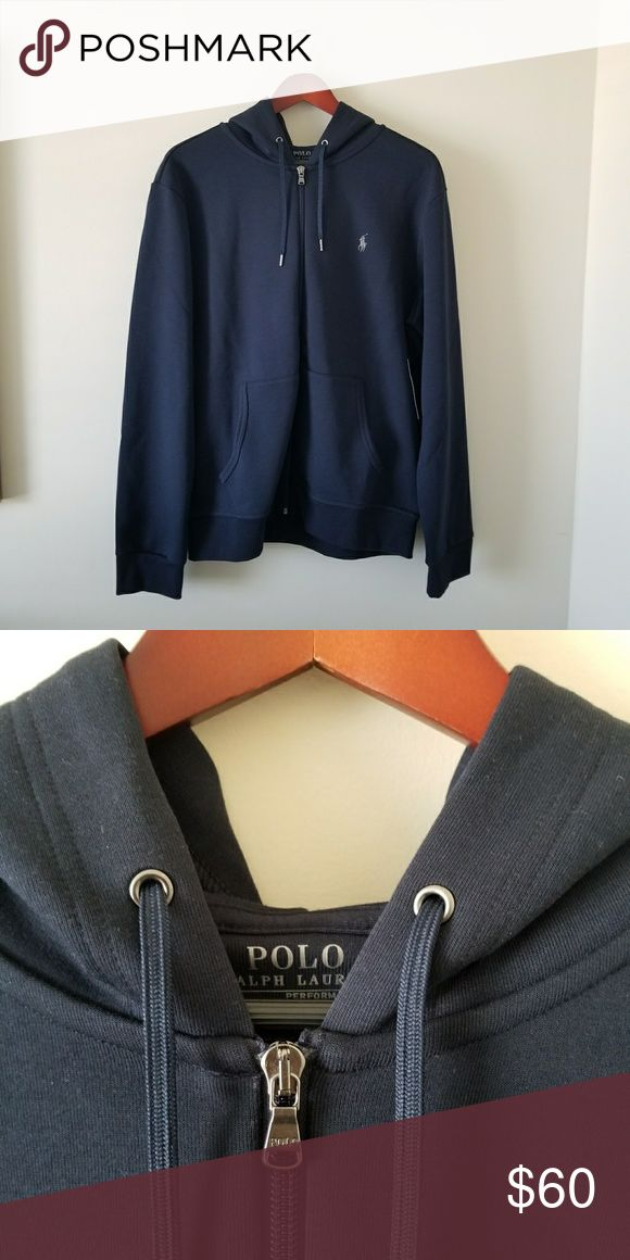 💥Cyber Monday 💥POLO RALPH LAUREN HOODIE ☆Color: Navy Blue  ☆Gray Pony Emblem On Left Side ☆Zip Up ☆NWT 💥Cyber Monday Only 3pk of Polo Ralph Lauren  socks included when you pay asking price of Polo hoodie 65.00. Polo by Ralph Lauren Sweaters Zip Up