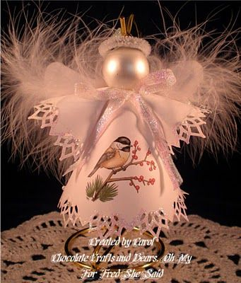 Paper Angel Ornament Tutorial...there are some really beautiful paper Angels here! Love them