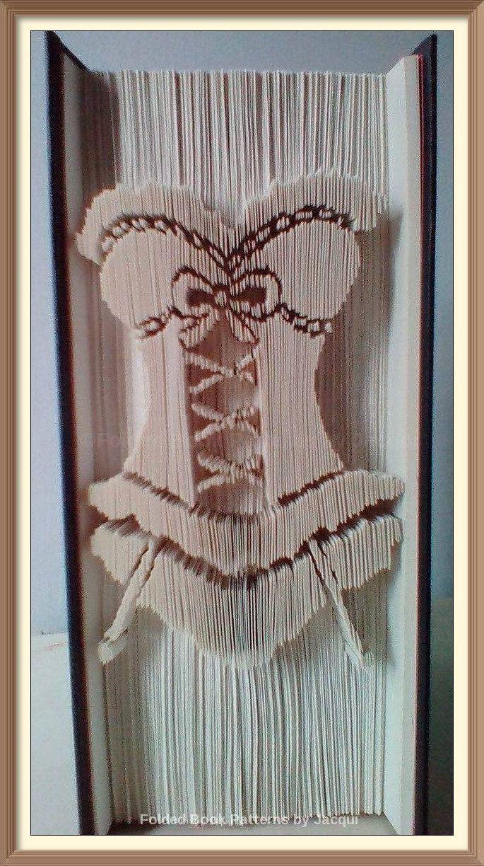 Corset A. Book Folding pattern. by JHBookFoldPatterns on Etsy