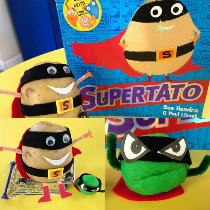 We're reading Supertato this week and the children have loved the story so much! We've set up a little inspiration for them - hopefully they will enjoy writing speech bubbles for he characters! #eyfs #earlyyears #earlyyearsliteracy #eyfsteacher #supertato #aceearlyyears