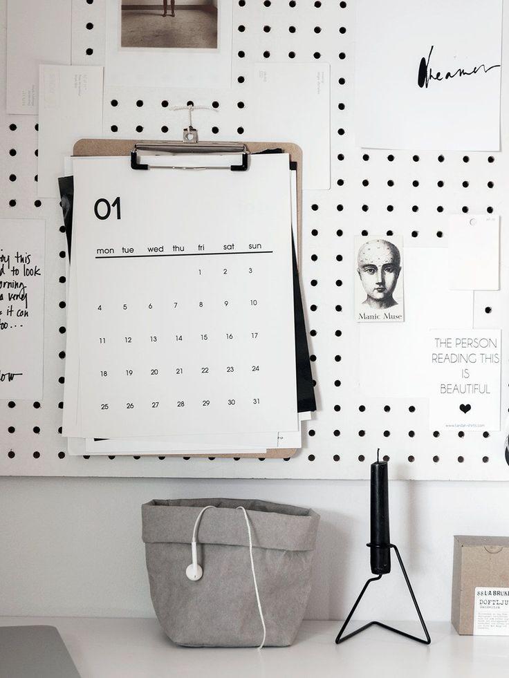 Minimal calendars 2016 (printable) (Hege in France)