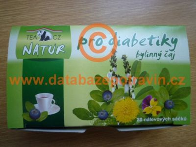 potravina Bylinný čaj pro diabetiky