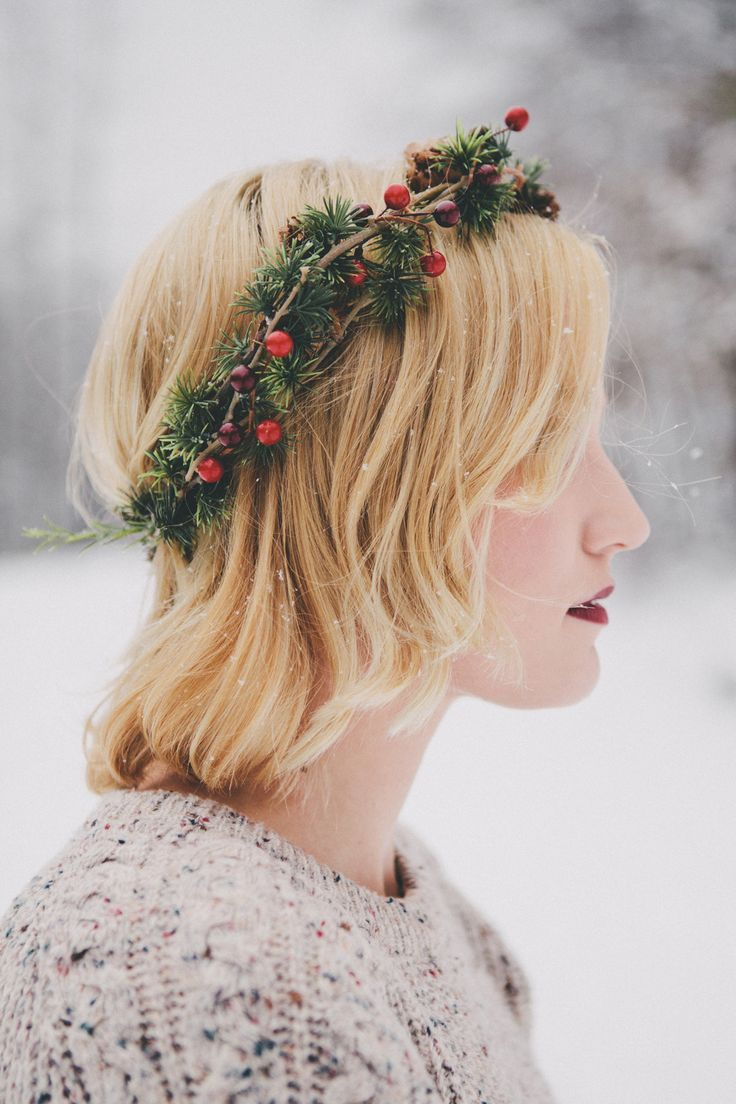 Christmas floral crown