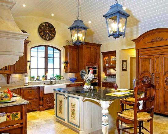 Дизайн кухни в деревенском стиле кантри.— iHouzz.ru