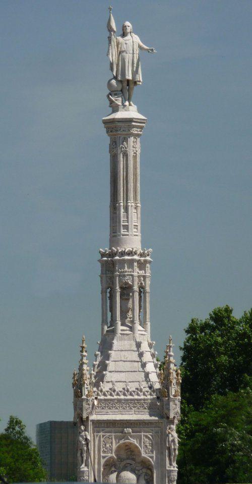 Plaza de Colon...Statue of Christoper Columbus--Madrid