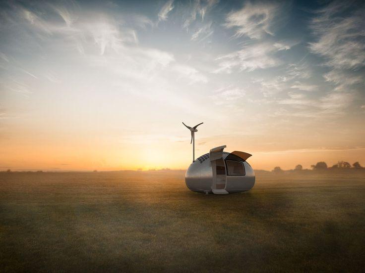 Apesar de pequena, a Ecocapsule conta com todos os elementos essenciais para uma estadia prolongada e confortável, sem a necessidade de recargas