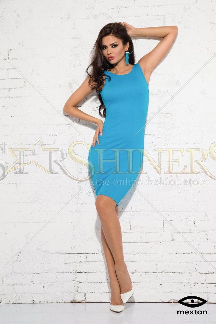 Mexton Sensual Blood Blue Dress