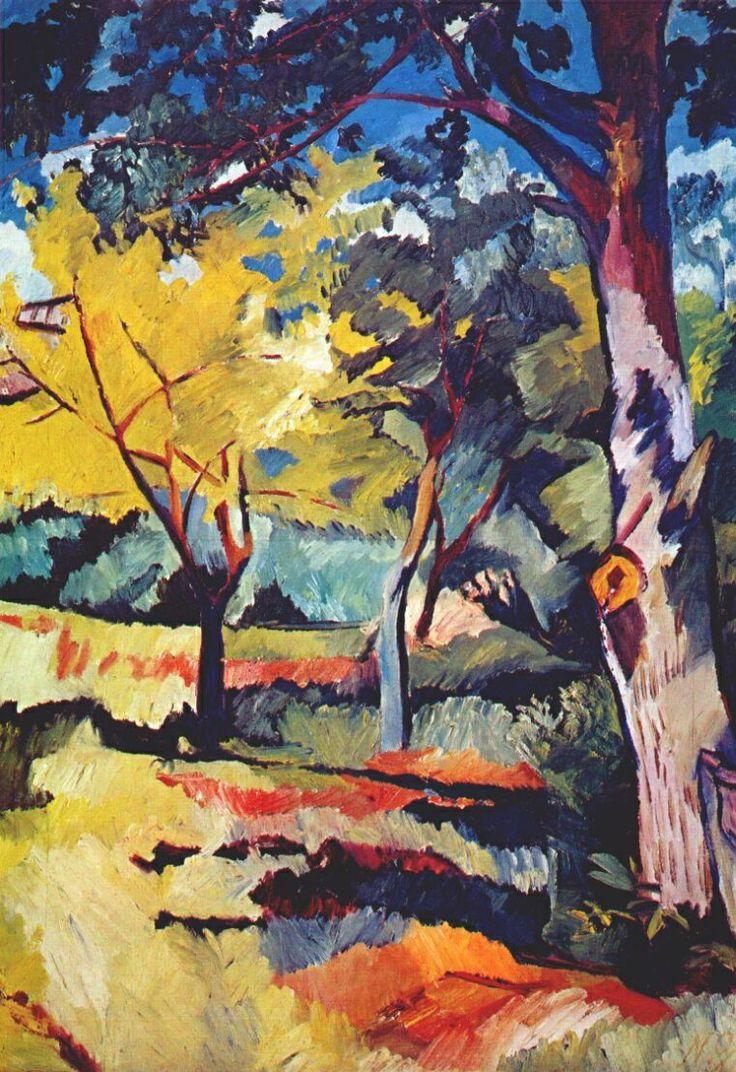 Landscape at Ladyzhino - Natalia Goncharova,1908