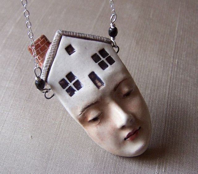 Felicia Nilson's porcelain pendant on sterling silver chain.