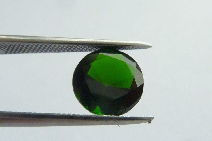1.93 Cts Round Shape 8 x 8 mm 100% Natural Green Chrome Diopside Loose Gemstone #KinuBabaGems