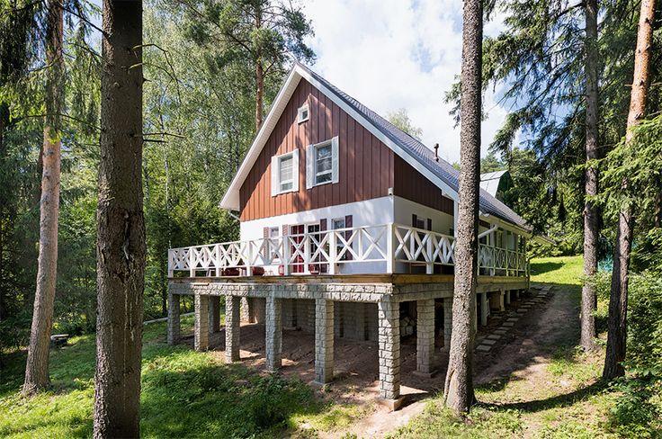 Дом с открытой террасой | Архитектурные проекты | Журнал «Красивые дома»