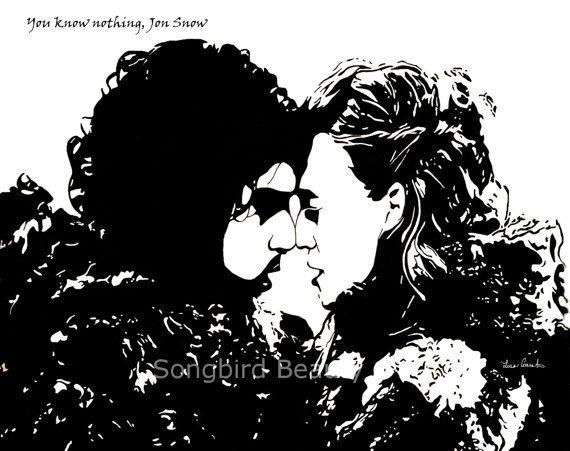 Jon Snow & Ygritte Fan art PRINT 8x10 Game of by SongbirdBeauty, $10.00
