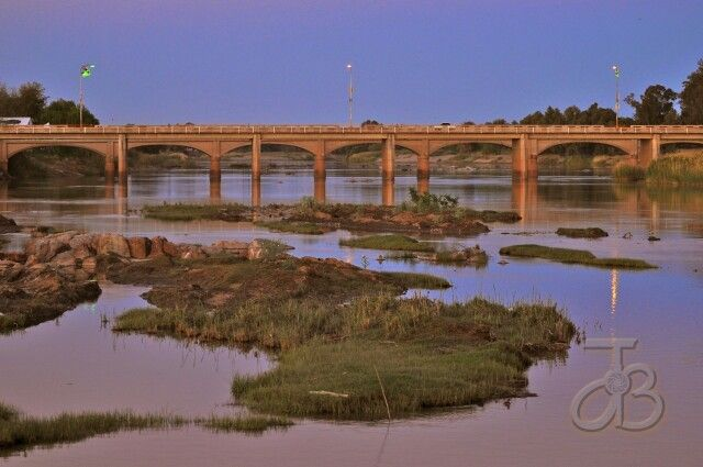 Sunset on the Orange  river, Upington,  Northern Cape South Africa
