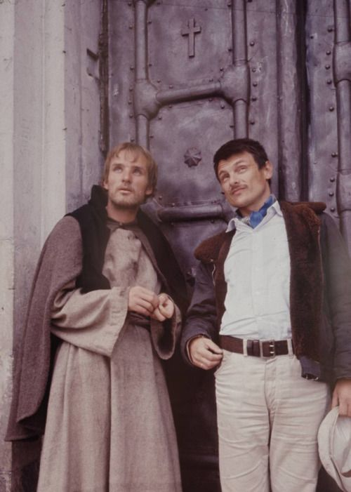 Andrei Tarkovsky with Anatoly Solonitsyn - Andrei Rublev