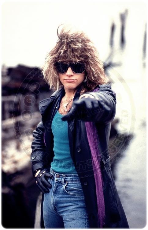 Jon Bon Jovi. Everybody had to have his hair, no matter man or woman