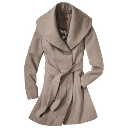 Merona® Women's Shawl Collar Coat -Heather Taupe Only $60 at Target!  Want!