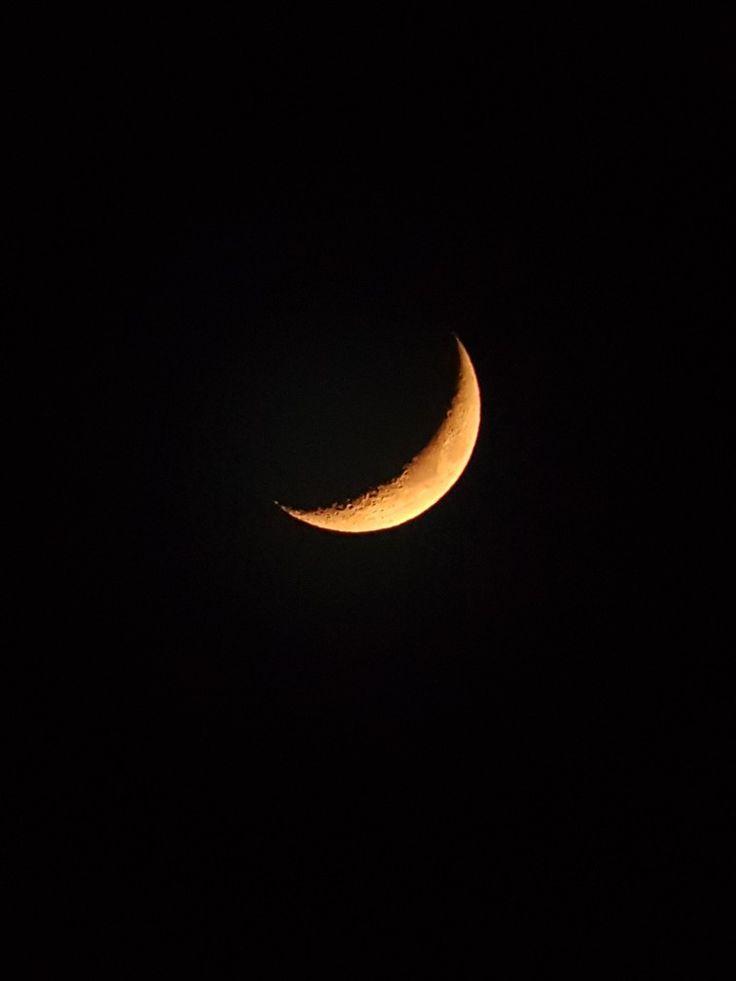 20171022 red crescent (moon) from s.korea;20-140*80 Barska binoculars