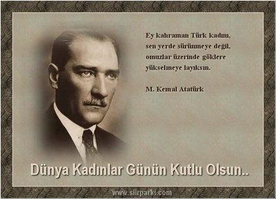 Kahraman Türk Kadını ile ATATÜRK !
