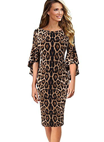 1ab18e2fb44d VfEmage Womens Elegant Bell Sleeve Wear to Work Party Coc... https:/