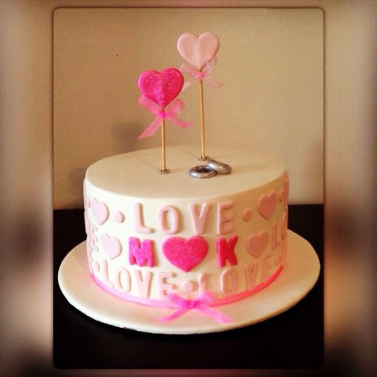 Engagement cake, Love cake