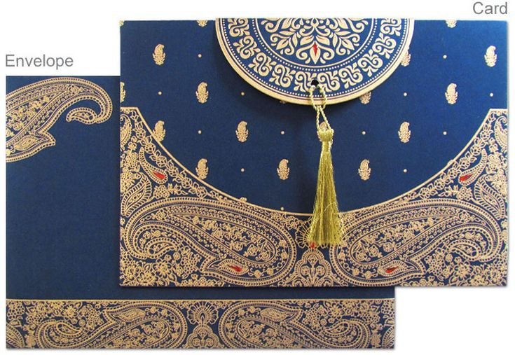 Hindu Wedding Invitations Toronto: Navy And Cards