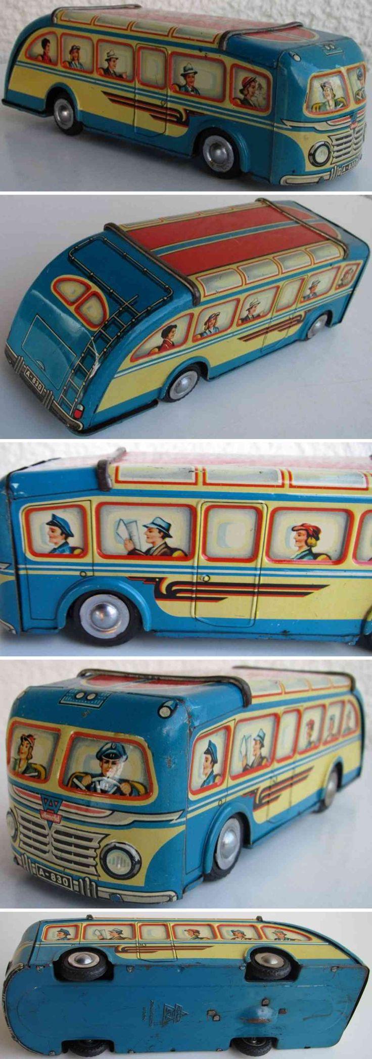 spielzeug arnold 830 blech spielzeug autobus mit schwungrad blau, Datenbank für altes Spielzeug
