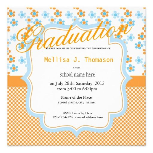 14 best Graduation invitation modern trendy cool images on – Zazzle Graduation Invitations