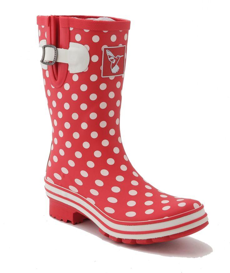 Regenlaarzen rood met witte stippen Evercreatures online kopen