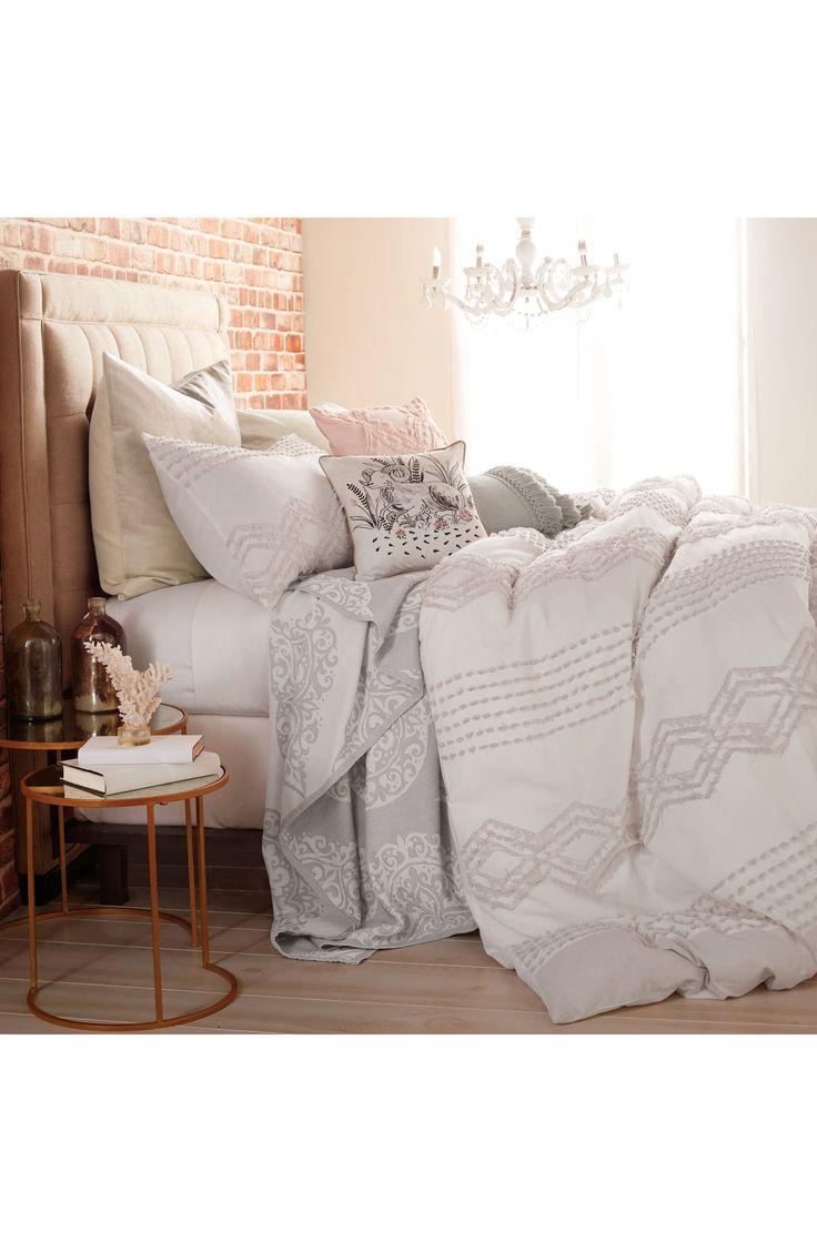 Cut Geo Chenille Comforter & Sham Set nordstrom sale #nsale