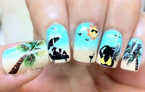 summer nails 2014 | cool summer beach nail art 2014