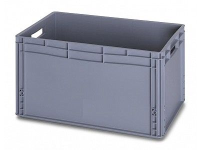 66 Litre Euro Plastic Stacking Container - Stackable Straight Sided Storage Box