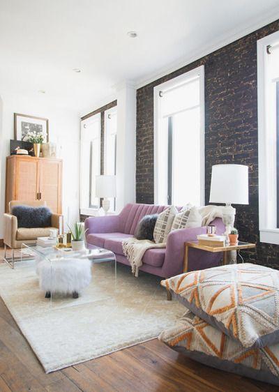 25 best ideas about purple sofa on pinterest purple for Appartement haussmannien decoration