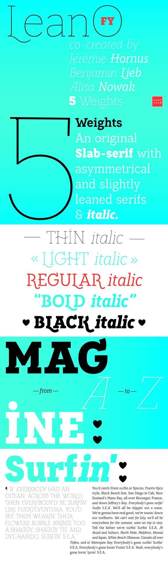LeanO FY Black Italic. Slab Serif Fonts. $35.00