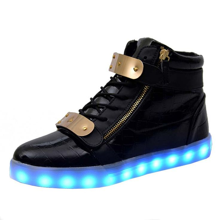 7 Colors Unisex Led Luminous Light Shoes Men Women Fashion USB rechargeable  Light Led Shoes for