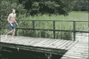This graceful diver. | 13 People Who Tried Way Too Hard To Be Cool