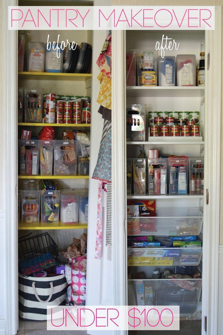 Pantry organization using Ikea Algot system #