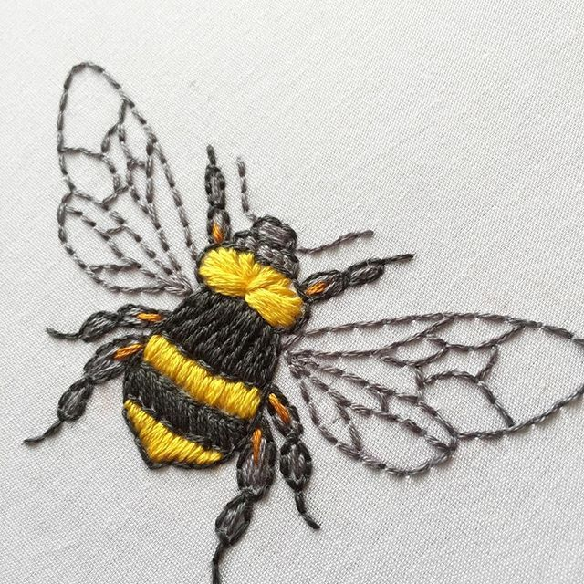 { bee embroidery }