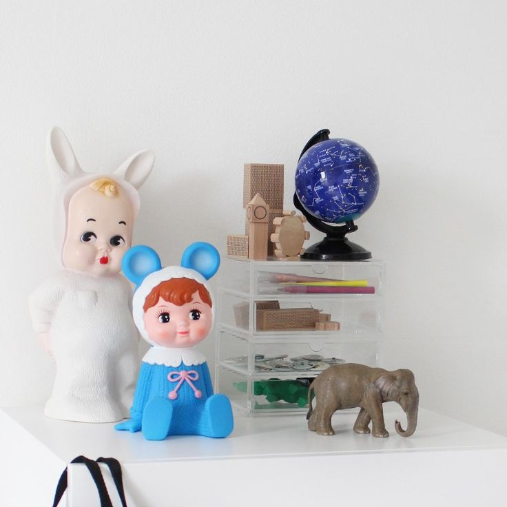 Blå Woodland dukke sparebøsse - Tinga Tango Designbutik
