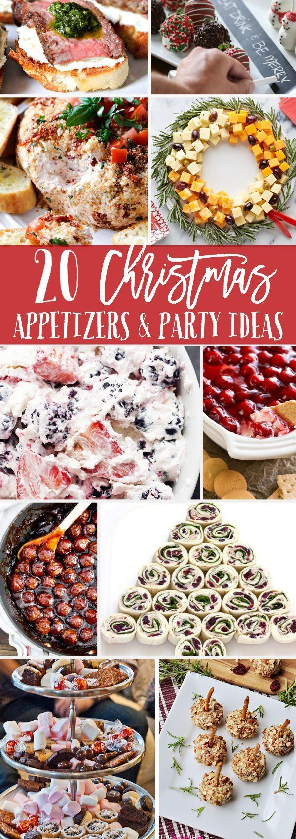 Christmas Appetizers and Party Ideas that will help you entertain and feed your guests this holiday season. Full of Christmas recipe ideas and tips.