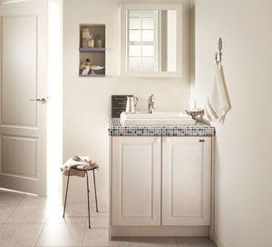 無垢の木の洗面台 | 洗面化粧台 | WOODONE