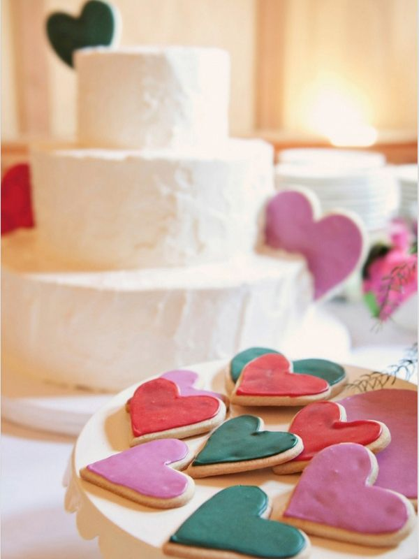 Heart Shaped Cookies Simple White Cake Photo By Steep Street