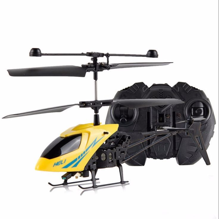 New! RC 2CH Mini helicopter Radio Remote Control Aircraft Micro 2 Channel Yellow