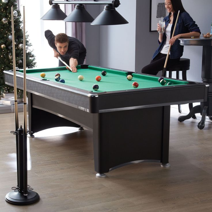 #SearsWishlist  Triumph Sports 'Phoenix' 7' Pool Table With Table Tennis Top And Accessories