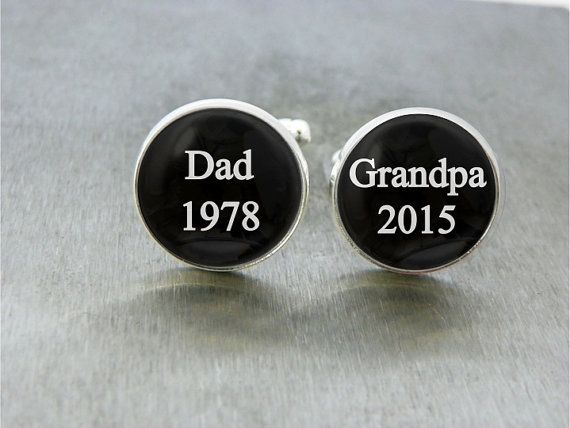 These handmade Cufflinks are great as a gift for Fathers day or for a first time Grandpa! Two hand sealed images on high quality photo paper are