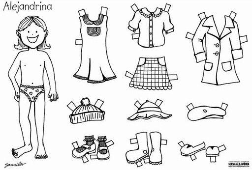 Niños para vestir y para colorear - Imagui