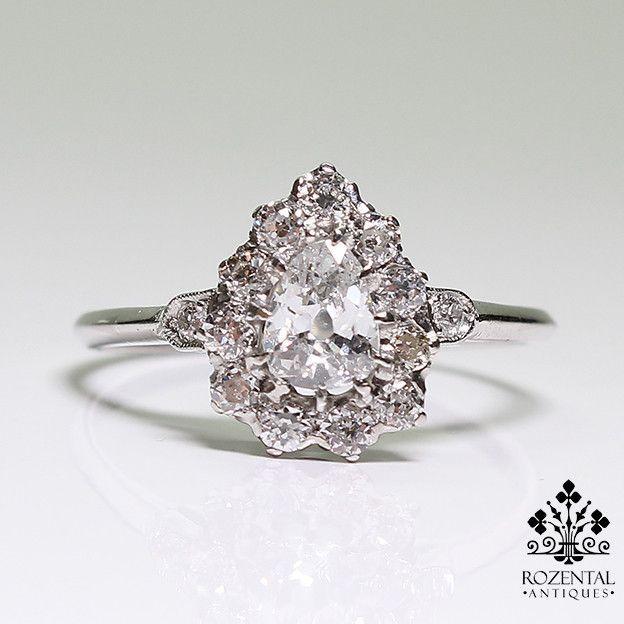 Antique Edwardian Platinum Diamond Ring