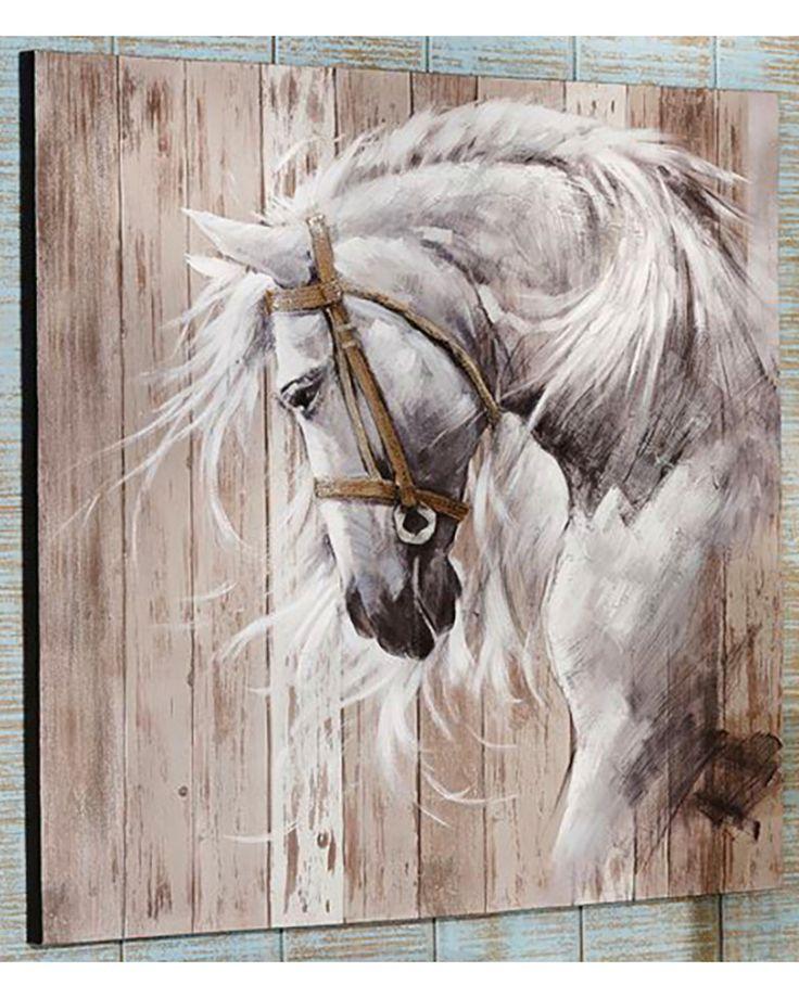 Giftcraft Horse Head Acrylic Paint Canvas Wall Decor , Beige/khaki Alexandra Reitbauer