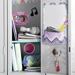 Lovely Locker Decor That Consists Of A Shelf E Z Board