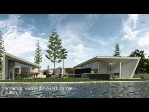 Proiecte Comerciale   Ansamblu Rezidential cu 8 Locuinte Buftea, IF   cod RKBI  http://www.cubarhitect.ro/ansamblu-rezidential-cu-8-locuinte-buftea-ilfov-proiect-din-portofoliul-cub-architecture-ro