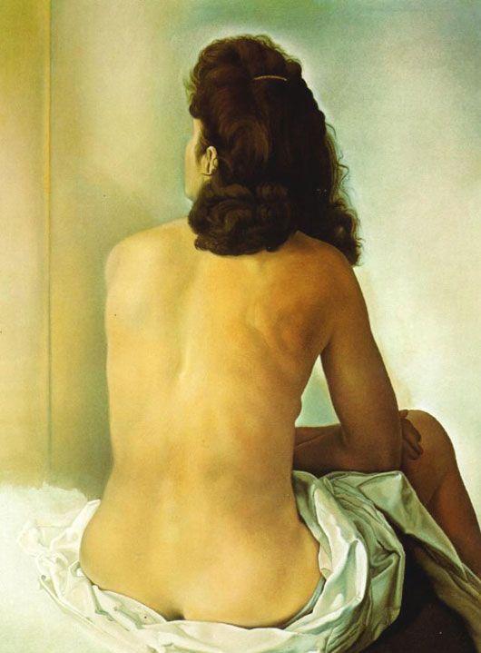 *#3 그들의 고독, 기다림 * 살바도르 달리 <보이지 않는 거울을 보면서 등을 돌리고 있는 갈라> (1960년) *이 작품에서 달리는 그의 젊은 시절에 제작한 여동생 안나 마리아의 초상에 보이는 초혼의 힘과 순수함을 회복하고 있다. 작품 상에서 보이지 않는 거울을 바라보는 갈라의 뒷 모습은 신비감을 나타내고 있다. 갈라는 거울 속에서 남편이었던 시인 폴 엘뤼아르를 떠나 달리와 사랑의 도피를 떠난 자신의 삶을 되돌아보고 있는 것이 아닐까?